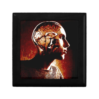 Inside my Head, Showing Brain Activity Small Square Gift Box