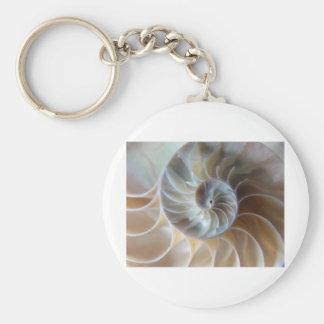 Inside Nautilus Basic Round Button Key Ring