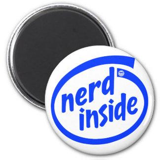 Inside (nerd) 6 cm round magnet