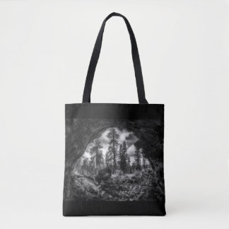 Inside Out a lava tube tote bag