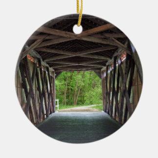 Inside Sandy Creek Bridge Hillsboro Missouri Ceramic Ornament