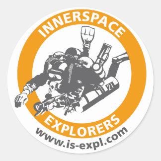 Inside space Explorers sticker