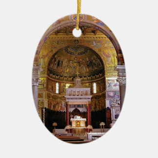Inside the church yeah ceramic ornament