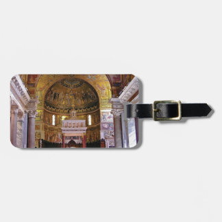 Inside the church yeah luggage tag