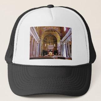 Inside the church yeah trucker hat