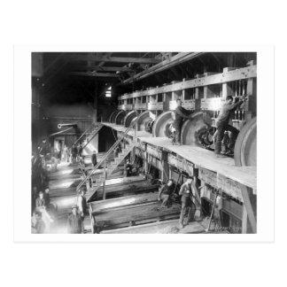 Inside the Deadwood Terra Gold Stamp Mill Postcard