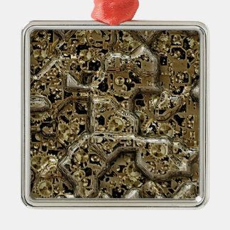inside the machine metal ornament