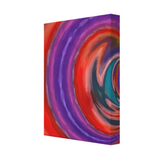 Inside the Tunnel Wrapped Canvas Color Abstract Canvas Prints