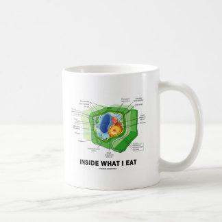 Inside What I Eat (Plant Cell Vegetarian Humor) Coffee Mug