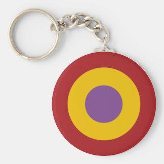 Insignia civil war, civil Spanish to war roundel Basic Round Button Key Ring