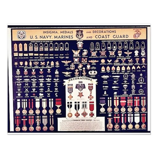 Insignia Medals And Decorations Personalized Invitations