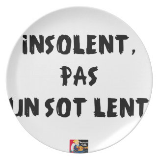INSOLATE, NOT STUPID SLOW - Word games Plate