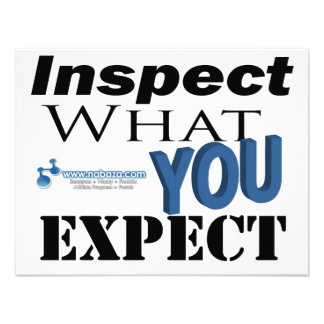 Inspect What You Expect Personalized Announcement