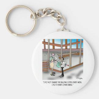 Inspector Cartoon 6382 Basic Round Button Key Ring