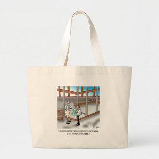 Inspector Cartoon 6382 Large Tote Bag