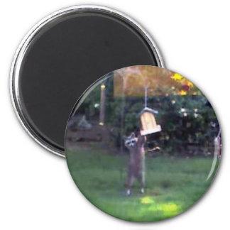 Inspector Raccoon 6 Cm Round Magnet
