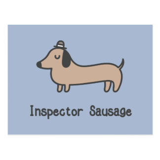 Inspector Sausage Postcard