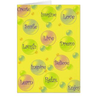 Inspiration Bubbles Card