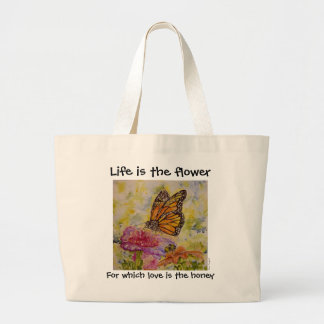 Inspiration Butterfly Art Jumbo Tote Bag