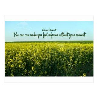 Inspiration by Eleanor Roosevelt Postcard