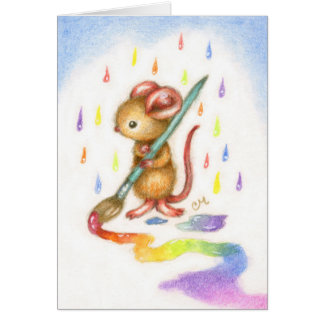 Inspiration - Cute Mouse Art Card