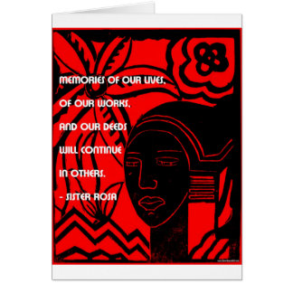 Inspiration from Sister Rosa Greeting Card