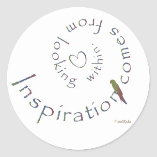 Inspiration from within classic round sticker