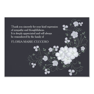 Inspiration Funeral Thank You Card 9 Cm X 13 Cm Invitation Card