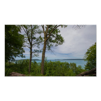 Inspiration Point, Glen Helen Lake, Michigan. Poster