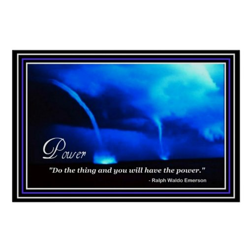 Inspiration Power Vision Emerson Quote Poster