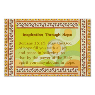Inspiration Through Hope Poster