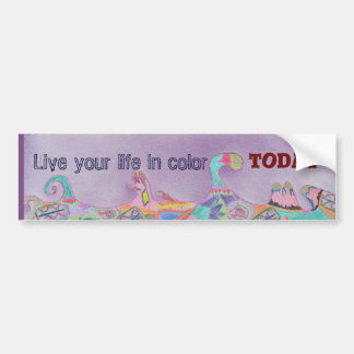 Inspirational Abstract Colorful Bumper Sticker