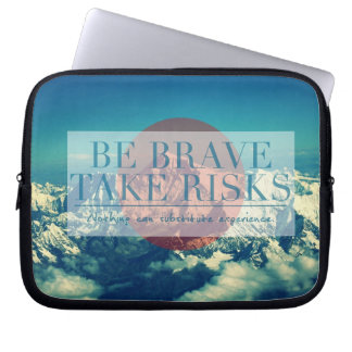 Inspirational and motivational quotes laptop sleeve
