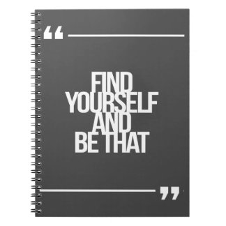 Inspirational and motivational quotes notebooks