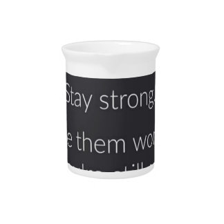 Inspirational and motivational quotes pitcher