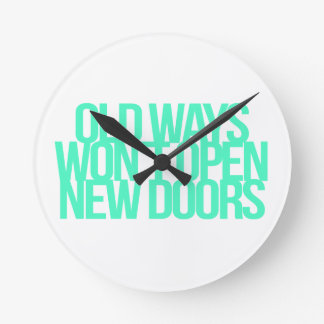 Inspirational and motivational quotes round clock