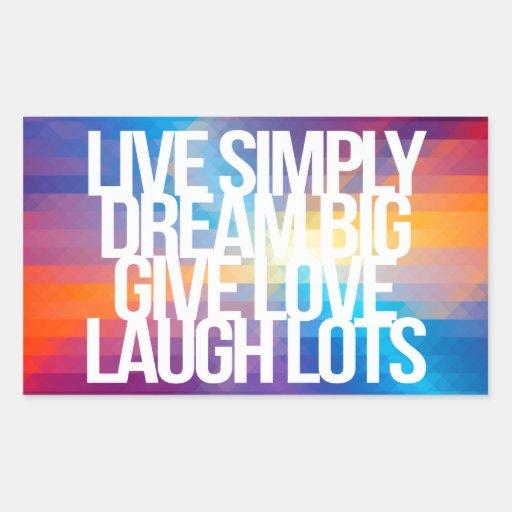 inspirational and motivational quotes rectangular sticker