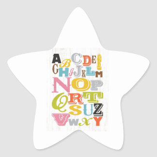 Inspirational Art - Alphabet. Star Sticker