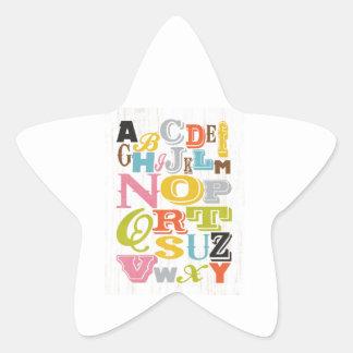 Inspirational Art - Alphabet. Star Sticker