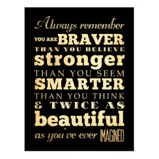 Inspirational Art -Dr Quote Postcard