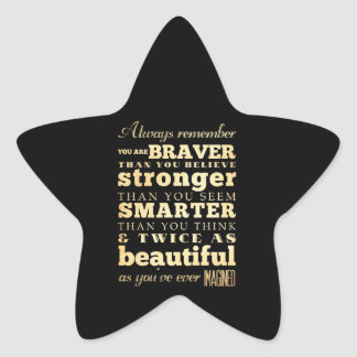 Inspirational Art -Dr Quote Star Sticker
