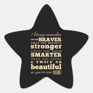 Inspirational Art -Dr Quote Star Sticker