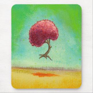 Inspirational art fun modern painting hopeful tree mouse pad