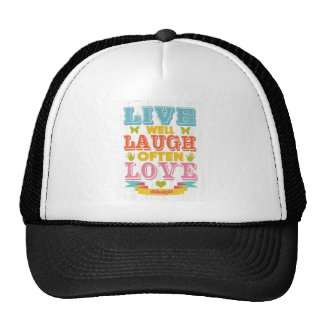 Inspirational Art - Live, Laugh, Love. Cap