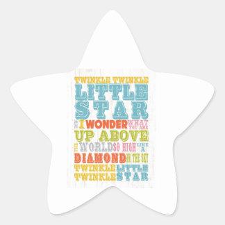 Inspirational Art - Nursery Rhyme Star Sticker