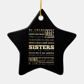 Inspirational Art - Sisters Ceramic Star Decoration