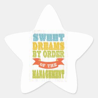 Inspirational Art - Sweet Dreams. Star Sticker