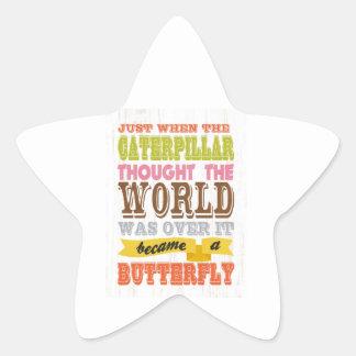 Inspirational Art - The Caterpillar Star Sticker