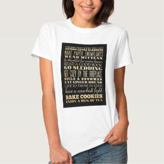 Inspirational Art - Winter Time T Shirts