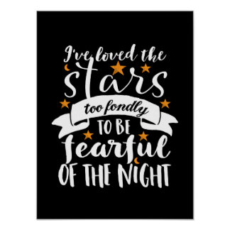 Inspirational Astronomy Quote Space Geek Love Star Poster